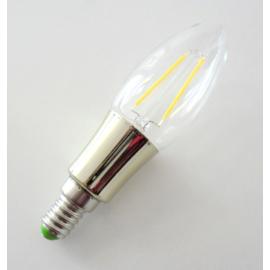LED gyertya izzó E14, 2W